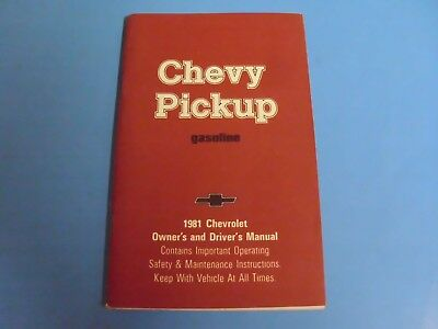 1981 Chevrolet Chevy Pickup  Owners Guide Manual