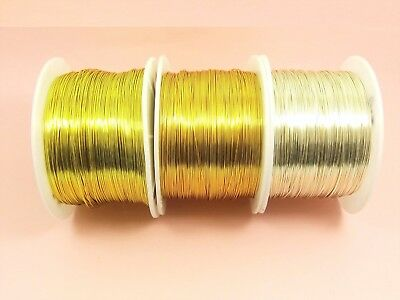 5 Metre x NON Tarnish COPPER Brass Artistic Beading WIRE for DIY Craft Making