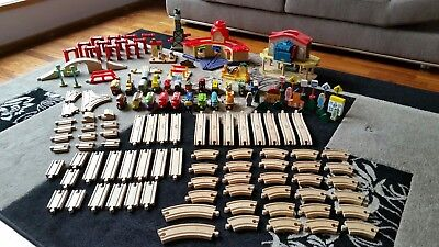 Learning Curve Chuggington Wooden Railway Train, Track and Accessories Bulk Lot