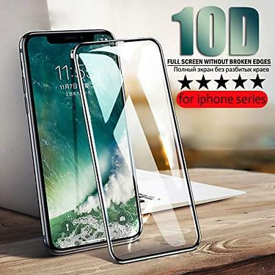 2X iPhone XR Display Schutzglas 10D 9H-Panzerfolie Full Screen Panzer Hart Glas