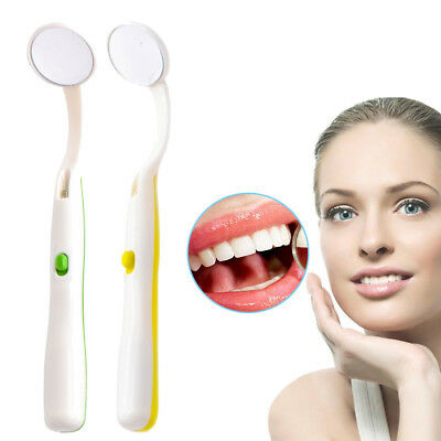 Dental Intraoral Photographic Reflector Mirrors Curved Angle Anti-Fog LED Light