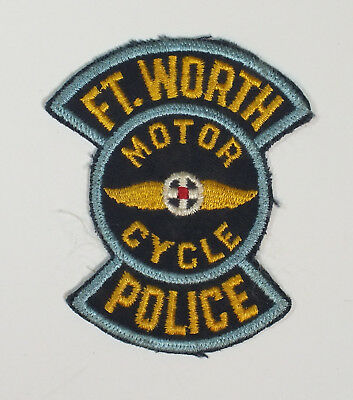 Vintage Fort Worth Texas Patch Motor Cycle