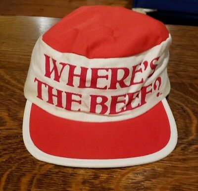 """1982 Wendy's """"Where's The Beef?"""" Hat"""
