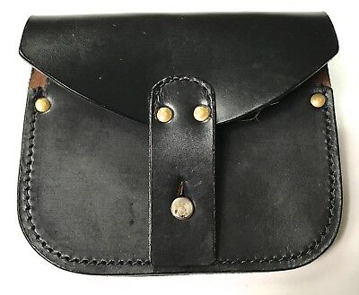 Wwi French M1915 Lebel Rifle Leather Ammo Pouch-Black
