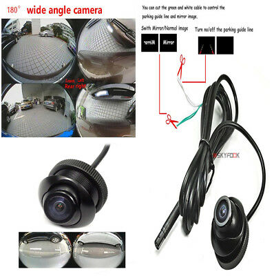 180 ° Fisheye Wide-angle Car Rear Front Side View Reverse Backup Camera CCD NTSC