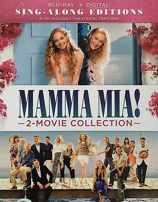 MAMMA MIA ! ~ 2- MOVIE COLLECTION ~ Blu-Ray + Digital *New *Factory Sealed