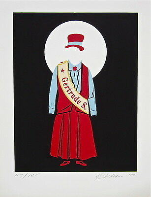 Gertrude Stein (The Mother of Us All) Limited Edition Lithograph Robert Indiana
