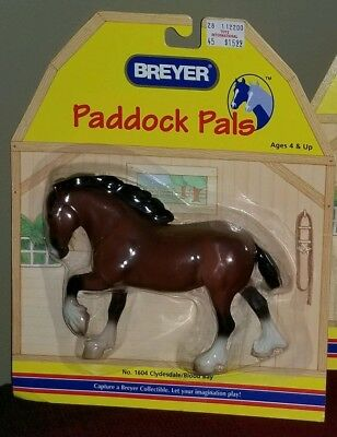 NEW BREYER HORSE Paddock Pals CLYDESDALE Blood Bay #1604 NIP MOC