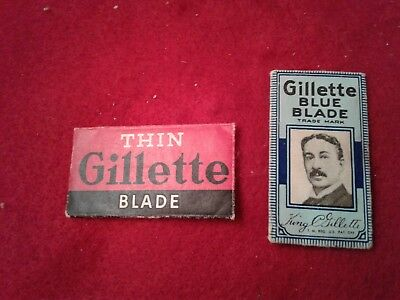 Set of Two Vintage GILLETTE SEALED Safety Razor Blades