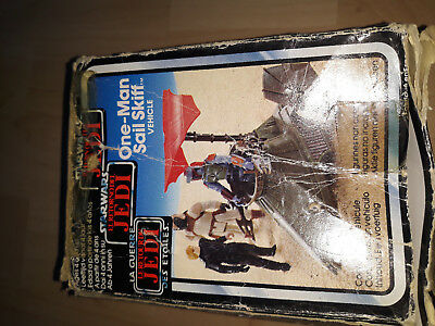 Star Wars Vintage-Return of the Jedi-One-Man Sail Skiff+ Verpackung Kenner 1983