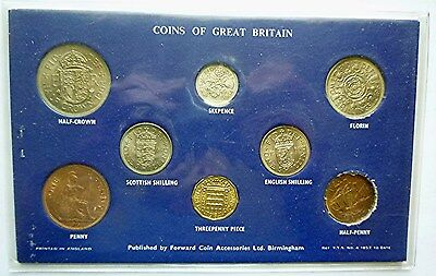 1964 Great Britain / United Kingdom - L.s.d. Pre-Decimal Unc Type Coin Set (8)