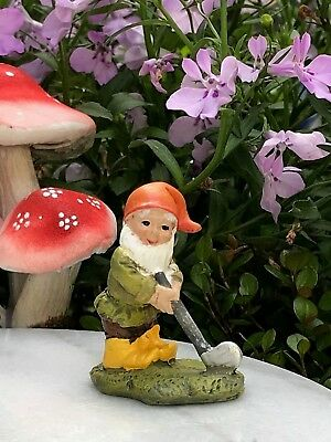 Miniature Dollhouse FAIRY GARDEN ~ Mini GNOMELAND Gnome Figurine Golfing Golf