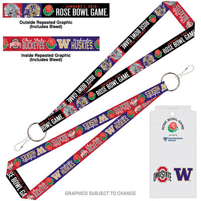 2019 Rose Bowl Ohio State Buckeyes Washington Huskies Credential Ticket Holder