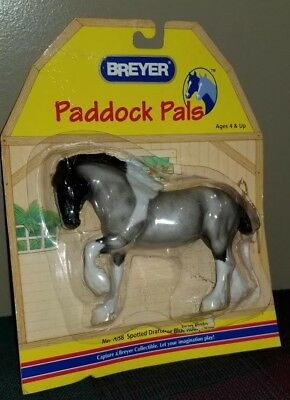 NEW BREYER HORSE Paddock Pals SPOTTED DRAFTER BLUE ROAN PINTO 1638 NIP MOC