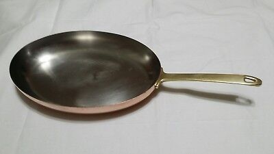 "Vintage Paul Revere 1801 Signature 12"" Copper Omelette Oval Pan"