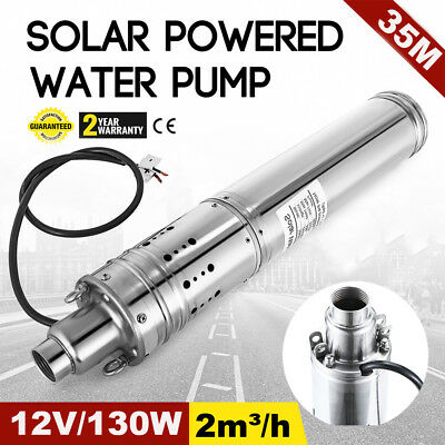 12V DC 2m3/H Solar Powered Water Pump Farm&Ranch Submersible Hole Deep Well MA