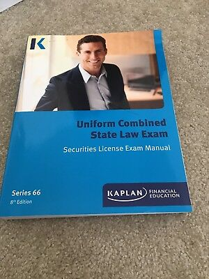 kaplan series 66- uniform combined state law exam book- 10th edition