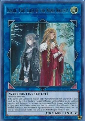 Yugioh | Isolde, Two Tales Of The Noble Knights  | Pre-Order | Super Rare NM Dec