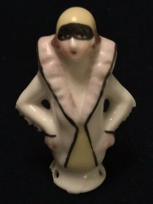 Vintage Bisque Pierrot Pin Cushion Doll Art Deco Germany Early 1900s