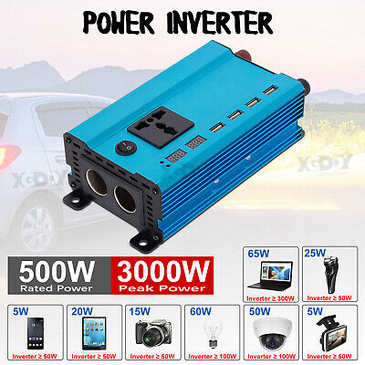 3000W/4000W/5000W Car Power Inverter 12V to 110V/220V LCD Sine Wave Converter W1