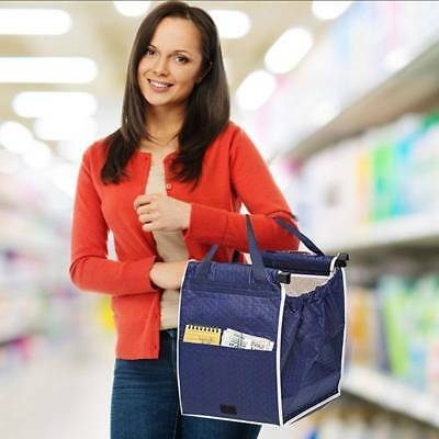 Collapsible Eco Bag Supermarket Bag Fabric Shopping Clip-To-Cart Trolley Bag