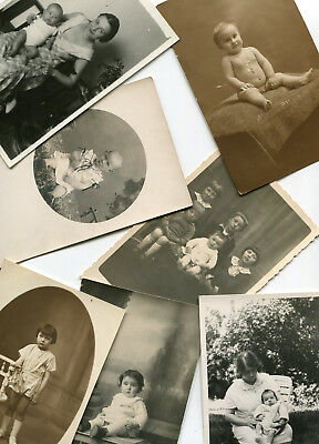 LOT de 7 Carte PHoto avec des enfants