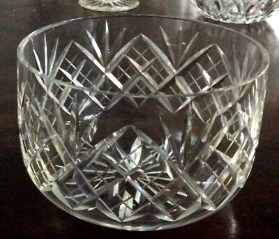 vintage lead crystal ornamental bowl
