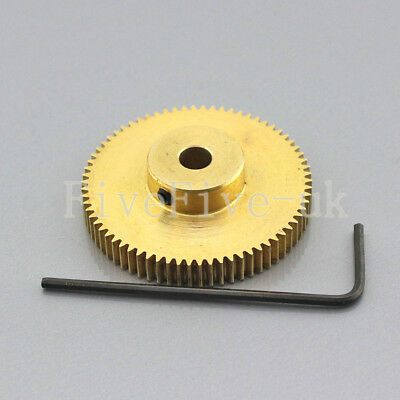 0.5M70T 3-12mm Bore Hole 70Teeth Module 0.5Motor Metal Gear Wheel with Top Screw
