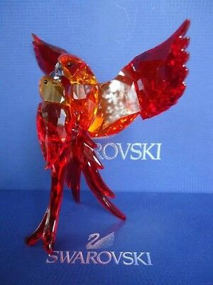 Large Swarovski Red Parrots Brand New in Box with Warranty Never Used #5136809