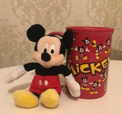 Large Mickey Mouse Mug with soft toy