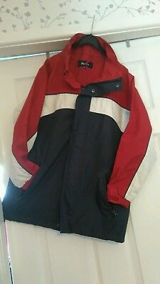 Boys jacket red/white /blue by Peter Storm age 9/10