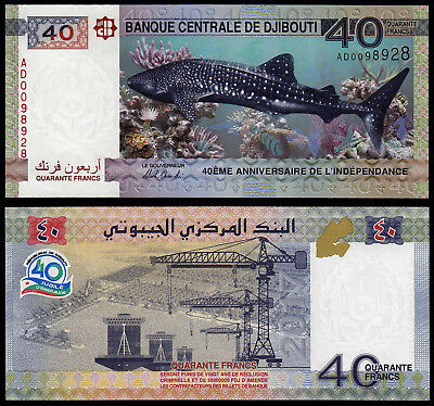 Djibouti 40 Francs (P New) 2017 Commemorative Issue Unc