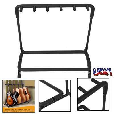 Guitar Stand 5 Holder Guitar Folding Stand Rack Band Stage Bass Acoustic US