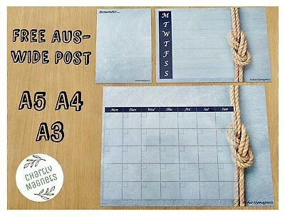 Blue Knot Fridge Magnet Whiteboard Family Monthly Weekly Planner Calendar A3A4A5