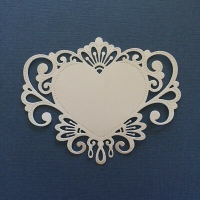 Scrapbooking die cuts - Jewelled heart x 6 pieces