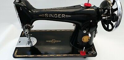 Singer 201k Heavy Duty Semi Industrial Sewing Machine with New Motor Blue Badge