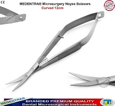 MEDENTRA® Micro Surgery Noyes Spring Action Ophthalmic Suturing Surgery Scissors