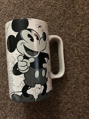 """Mickey Mouse Sketch Large 5.5"""" Mug Cup Disney Paris Never Been Used Since Boug"""