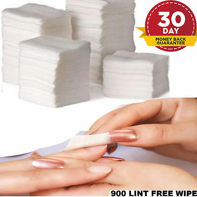 900 x NAIL SOFT WIPES ART GEL ACRYLIC POLISH REMOVER PEDICURE MANICURE LINT FREE