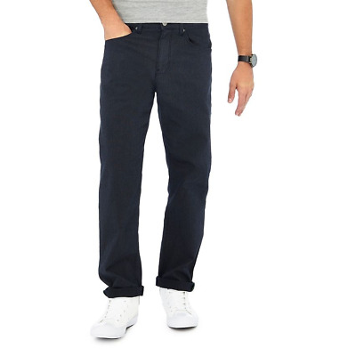 Racing Green - Navy pin dot straight fit trousers RRP £35.00 (RG-06)