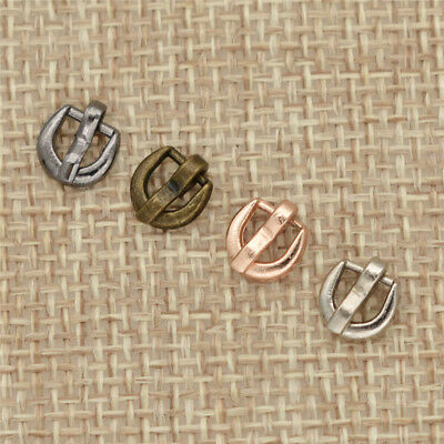 10pcs Mini Doll Belt Buckle Ultra Small Tri-glide Buckles for Doll Clothes Shoes