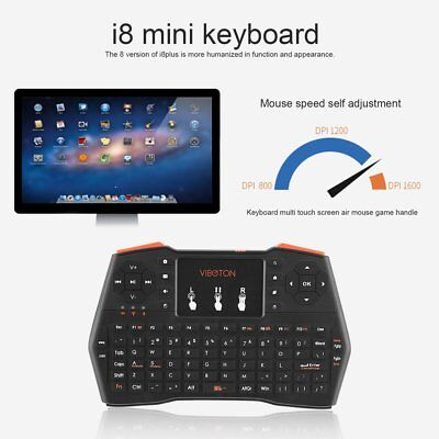 2.4GHz Portable Wireless Backlight Keyboard Touchpad Air Mouse For PC TV Box SUY