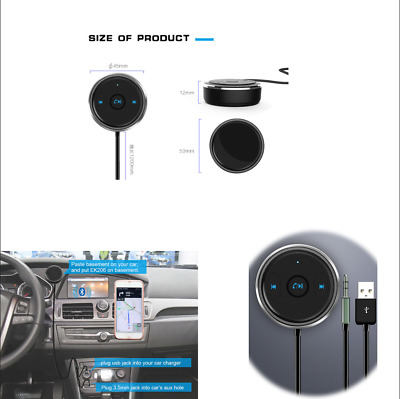 Multi-function Bluetooth Audio Adapter Voice Assistant AUX/USB Hands-free Call