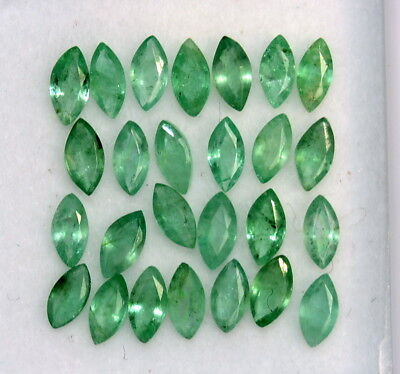 Natural Emerald Marquise Cut Calibrated 4x2 mm 28.95 Cts Lustrous Loose Gemstone