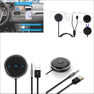 Car AUX Bluetooth Adapter Receiver MP3 DVD Audio Receiver Support Siri & Android