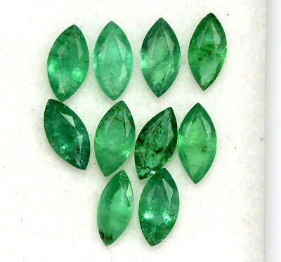 Natural Emerald Marquise Cut 6x3 mm Lot 05 Pcs 1.04 Cts Untreated Loose Gemstone