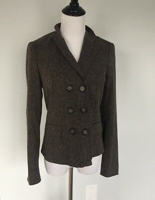 A Pea In The Pod Maternity Blazer Wool Blend Brown Heather Career Small