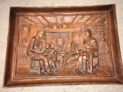 Black Forest Style Wood Carving Scene