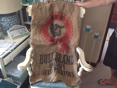 vintage hessian potato sack 24 inches x40