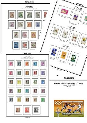 Print your own Hong Kong (British) Stamp Album, fully illustrated and annotated